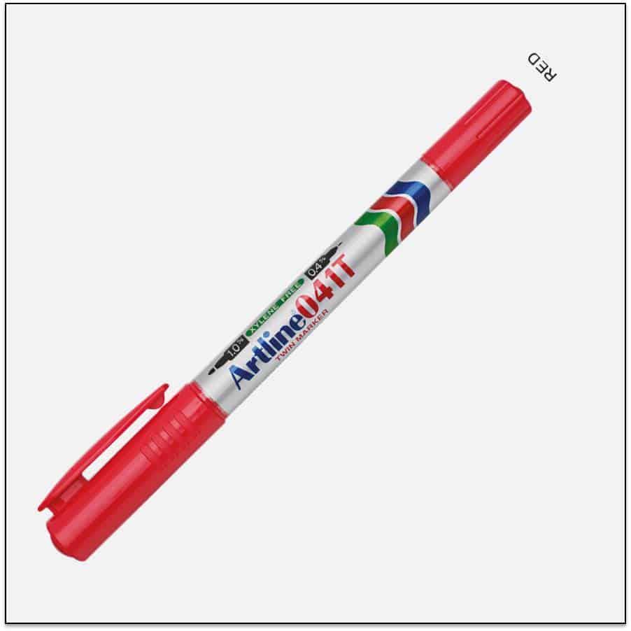 041T RED Bút lông dầu không lem 1