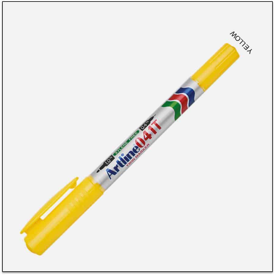 041T Yellow bút lông dầu 2 đầu 1