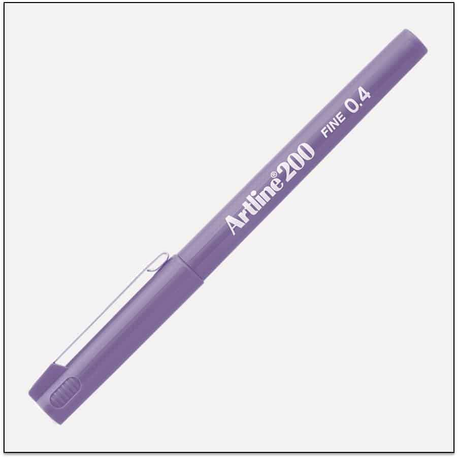 EK 200 PURPLE bút lông kim Artline Japan 1