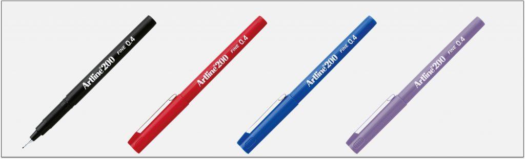 EK 200 bút lông kim Artline Japan