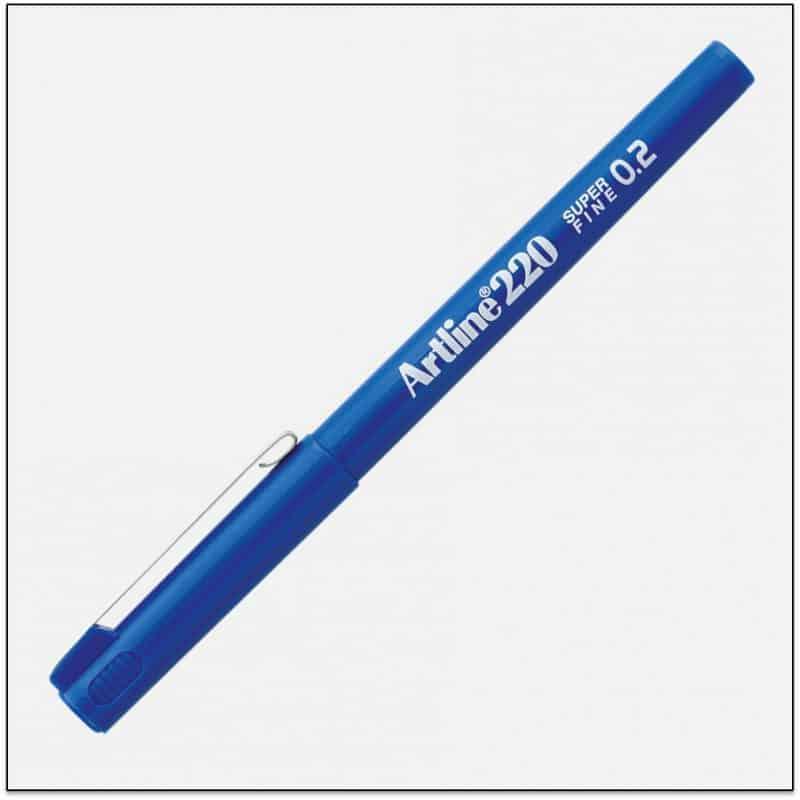 EK 220 BLUE bút lông kim nét nhỏ Artline Japan 1