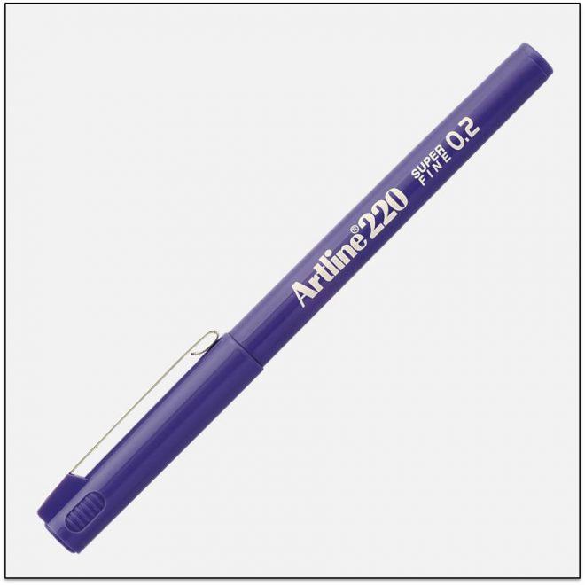 EK 220 PURPLE bút lông kim nét nhỏ Artline Japan 1