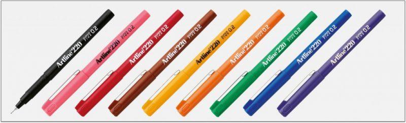EK 220 bút lông kim nét nhỏ Artline Japan