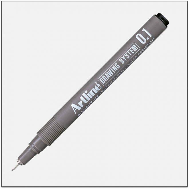 EK 231 BLACK bút vẽ kỹ thuật không lem artline Japan