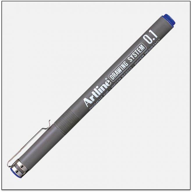 EK 231 BLUE bút vẽ kỹ thuật không lem artline Japan