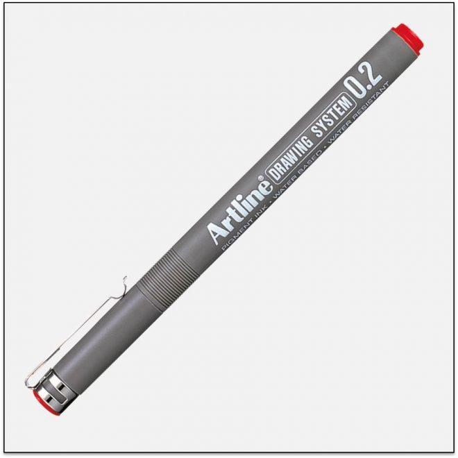 EK 232 RED bút vẽ kỹ thuật không lem artline Japan.png
