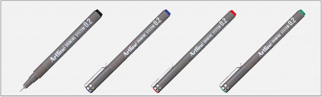 EK 232 bút vẽ kỹ thuật không lem artline Japan