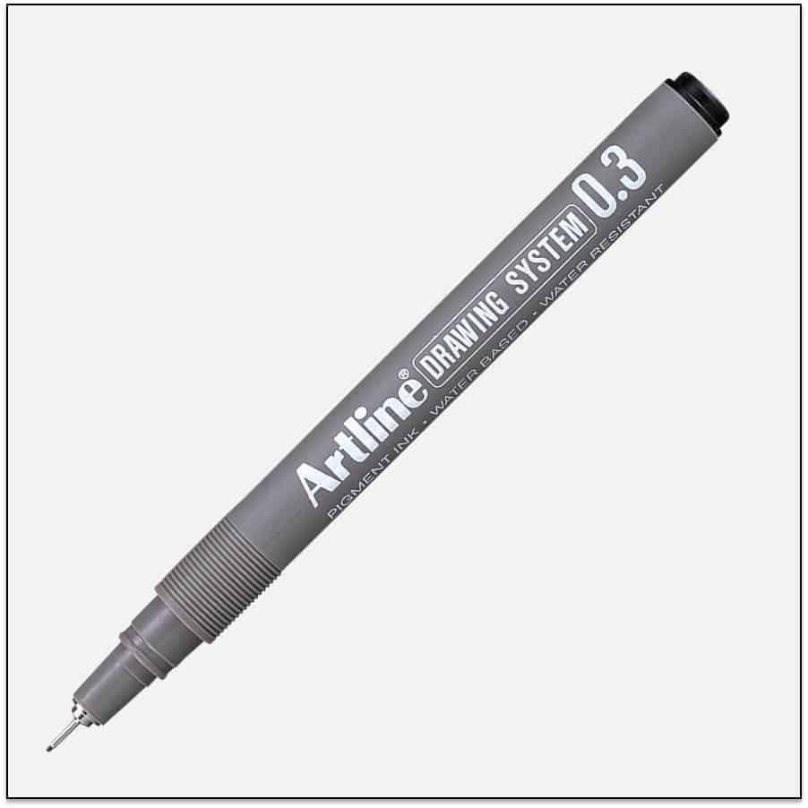 EK 233 BLACK bút vẽ kỹ thuật không lem artline Japan