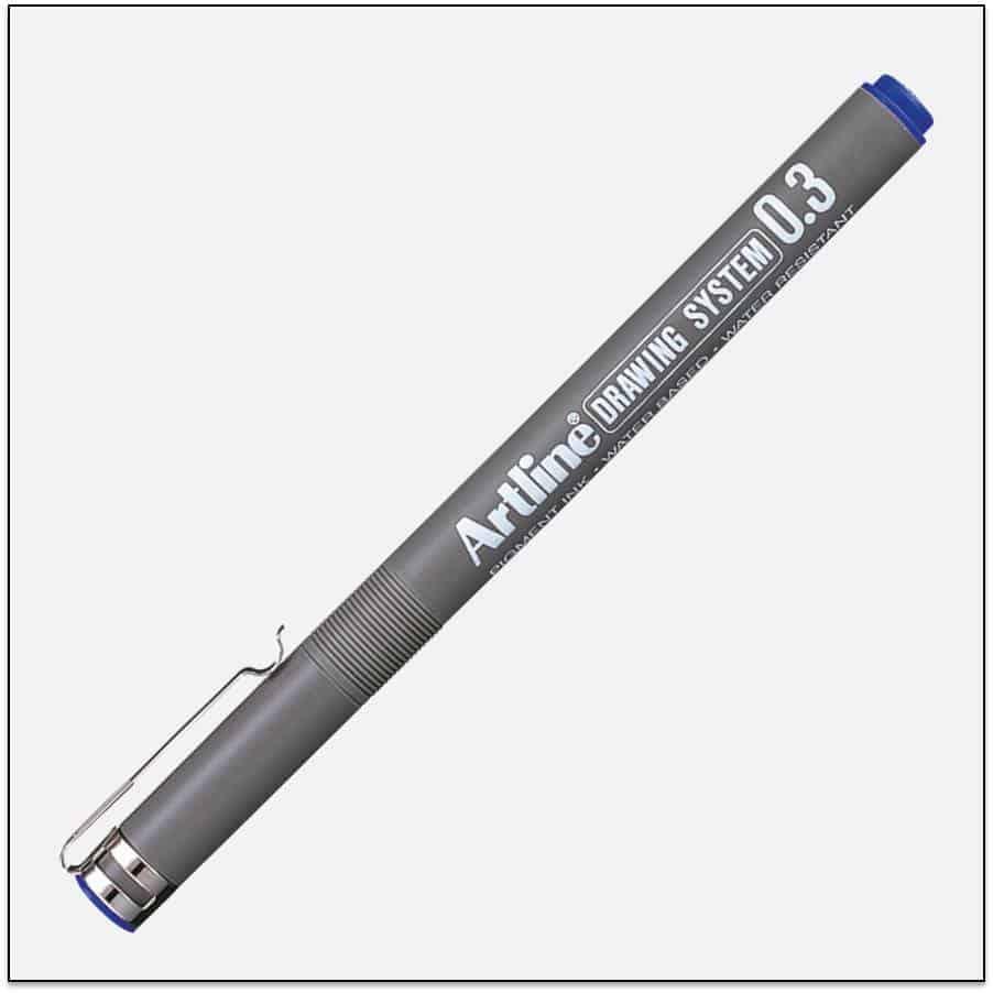 EK 233 BLUE bút vẽ kỹ thuật không lem artline Japan