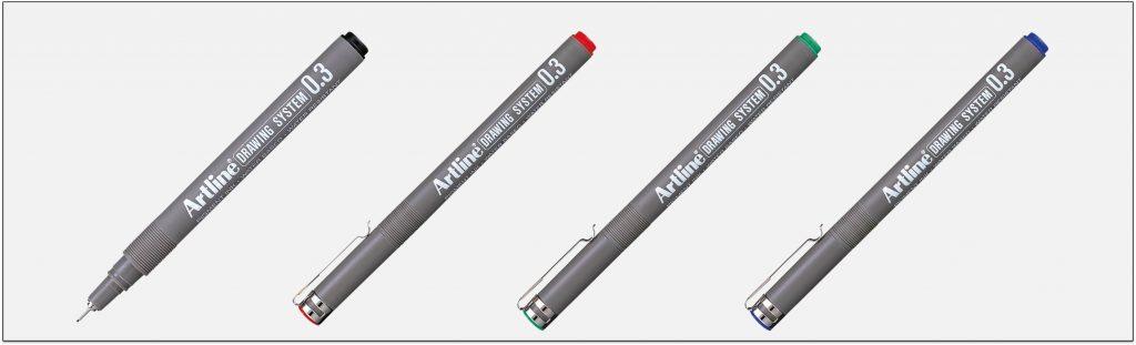 EK 233 bút vẽ kỹ thuật không lem artline Japan
