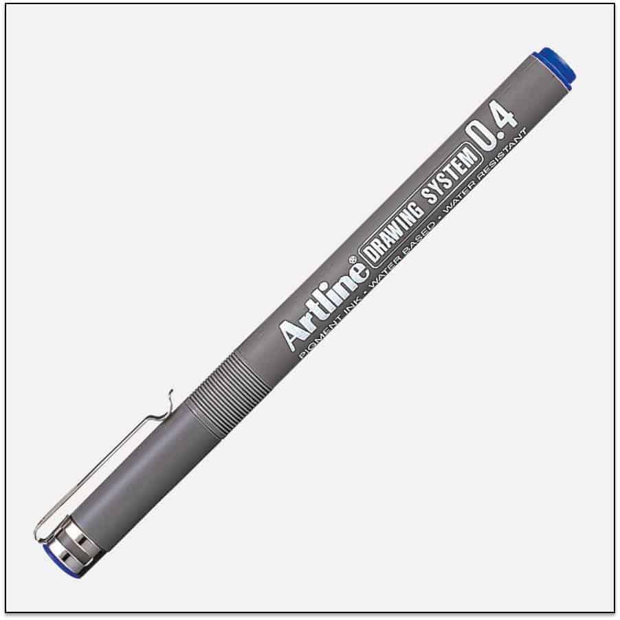 EK 234 BLUE bút vẽ kỹ thuật không lem artline Japan