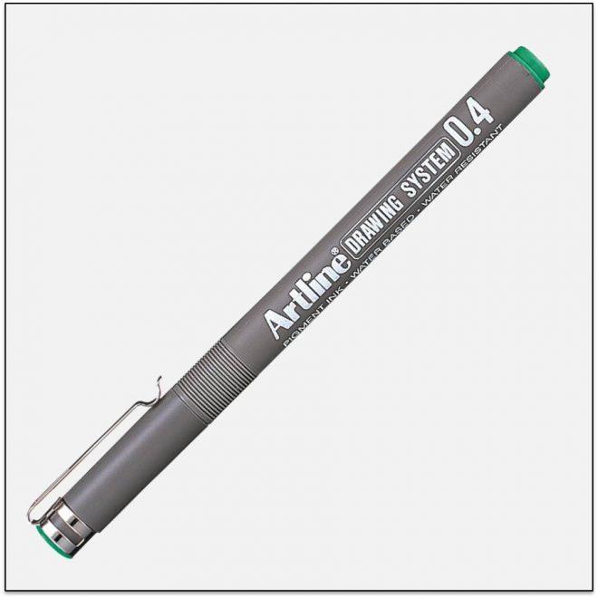 EK 234 GREEN bút vẽ kỹ thuật không lem artline Japan