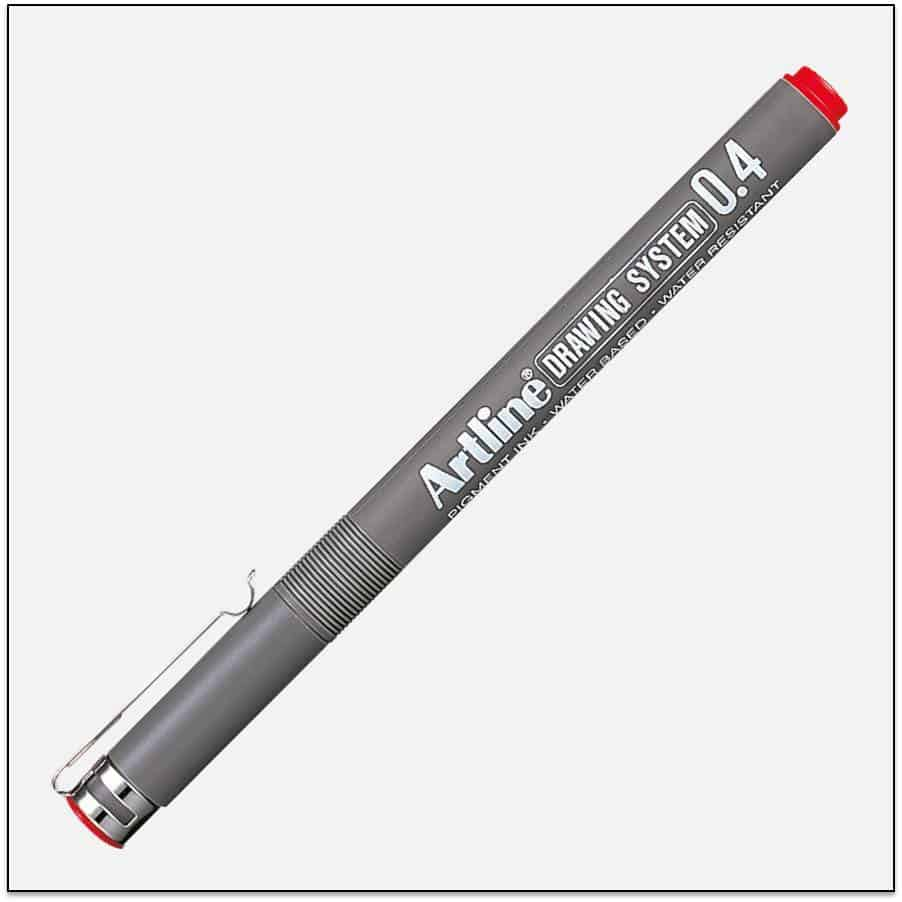 EK 234 RED bút vẽ kỹ thuật không lem artline Japan
