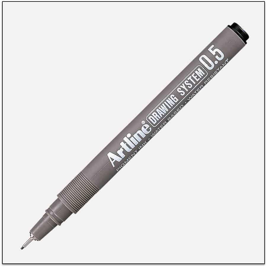EK 235 BLACK bút vẽ kỹ thuật không lem artline Japan