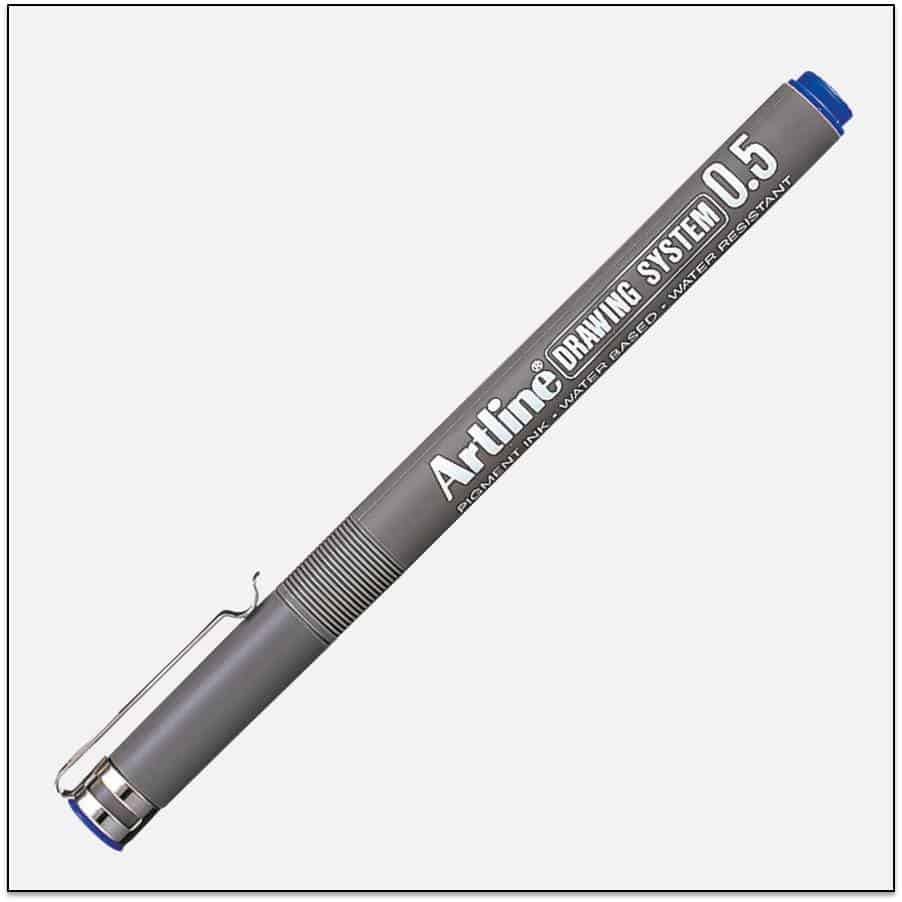EK 235 BLUE bút vẽ kỹ thuật không lem artline Japan