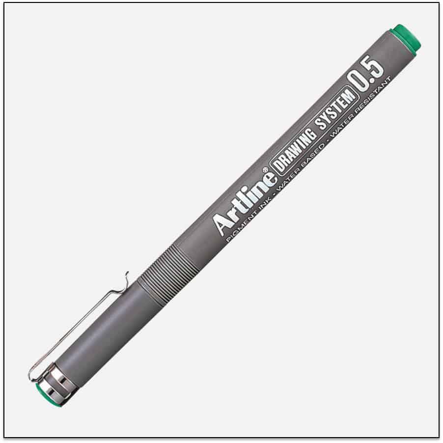 EK 235 GREEN bút vẽ kỹ thuật không lem artline Japan