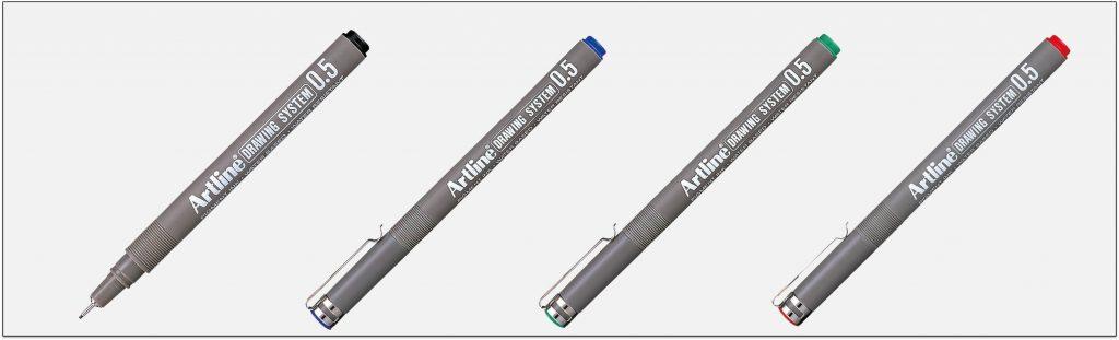 EK 235 bút vẽ kỹ thuật không lem artline Japan