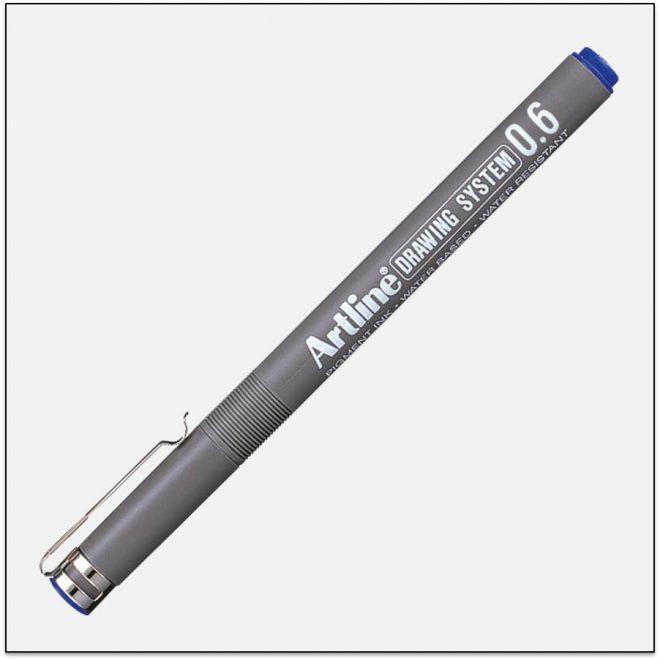 EK 236 BLUE bút vẽ kỹ thuật không lem artline Japan