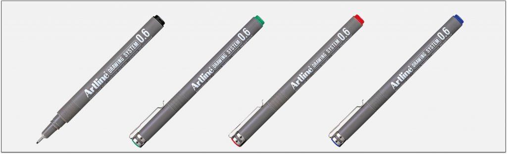 EK 236 bút vẽ kỹ thuật không lem artline Japan
