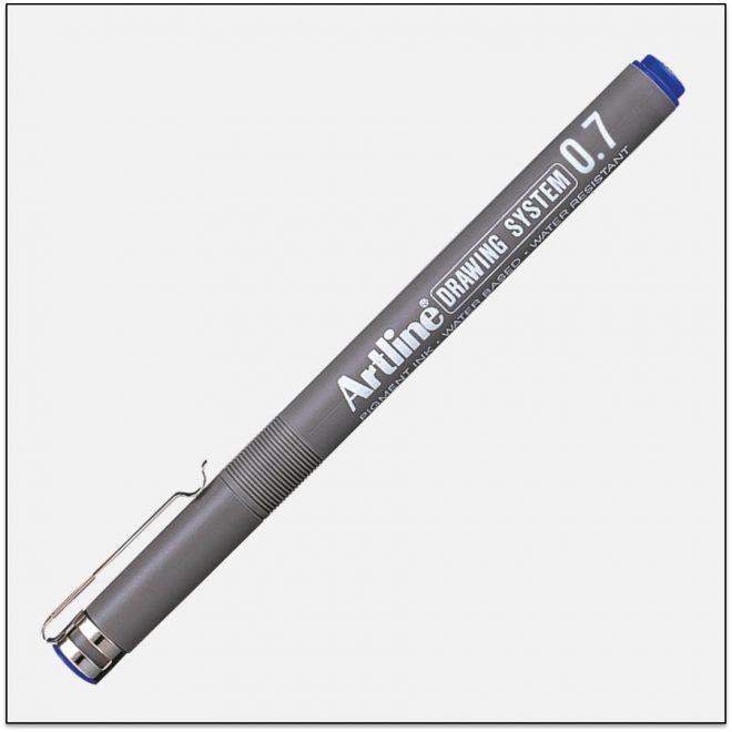 EK 237 BLUE bút vẽ kỹ thuật không lem artline Japan