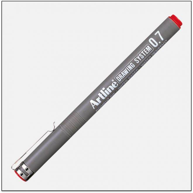 EK 237 RED bút vẽ kỹ thuật không lem artline Japan