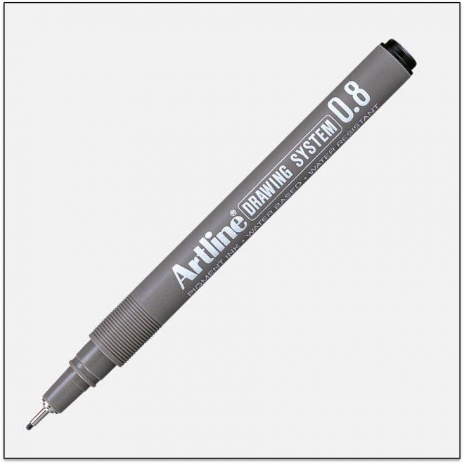 EK 238 BLACK bút vẽ kỹ thuật không lem artline Japan