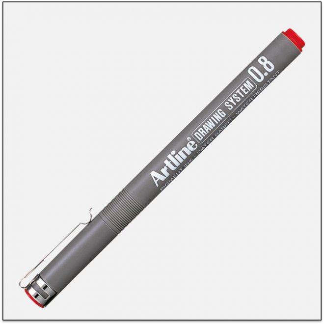 EK 238 RED bút vẽ kỹ thuật không lem artline Japan
