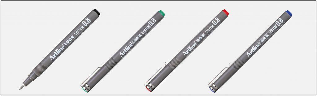 EK 238 bút vẽ kỹ thuật không lem artline Japan
