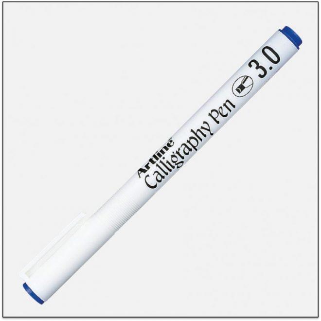 EK 243 BLUE Bút thư pháp calligraphy artline japan 1
