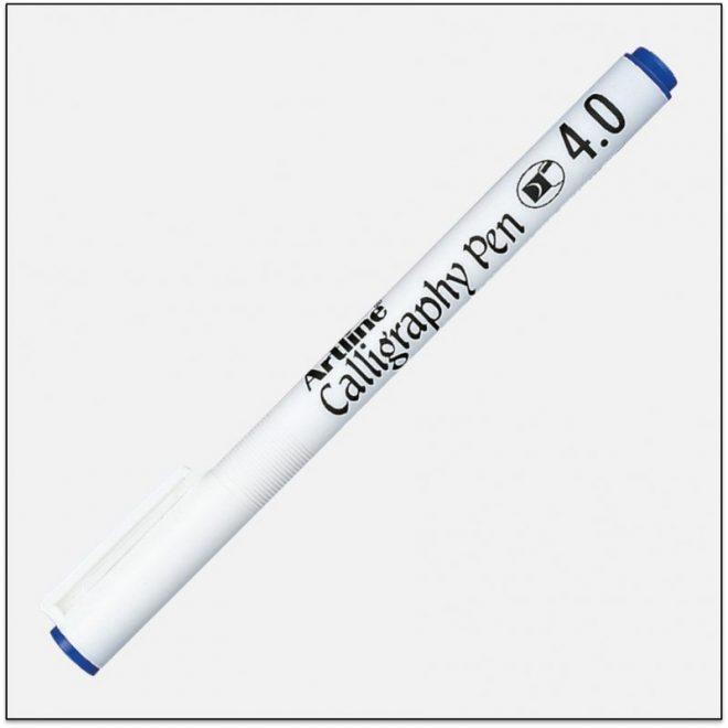 EK 244 BLUE Bút thư pháp calligraphy artline japan 1