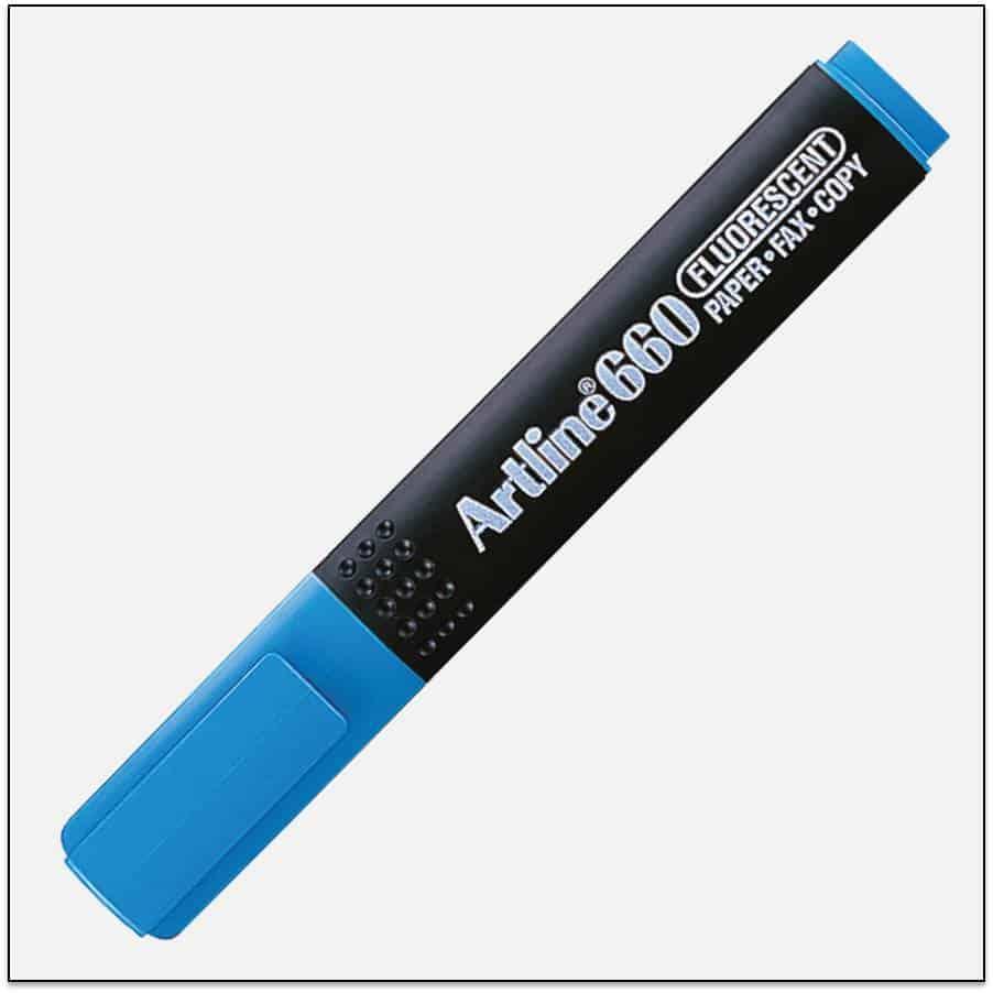 EK 660 BLUE bút dạ quang nhiều màu artline Japan 1