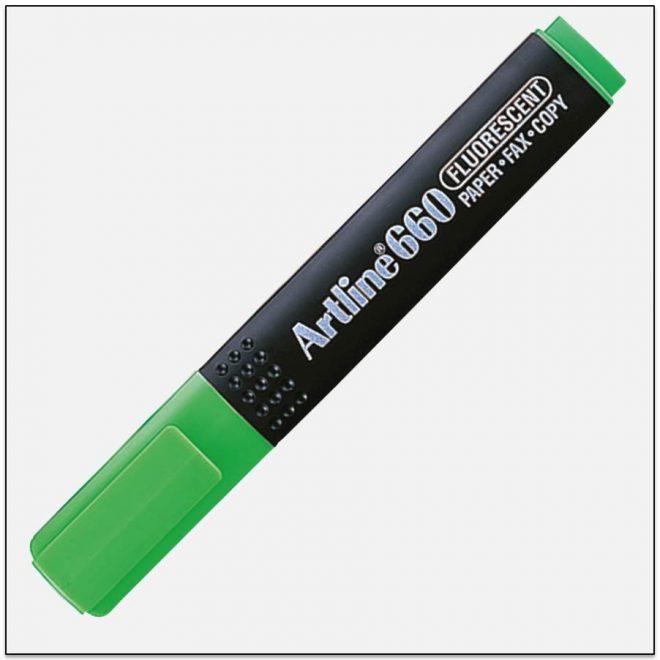 EK 660 GREEN bút dạ quang nhiều màu artline Japan 1
