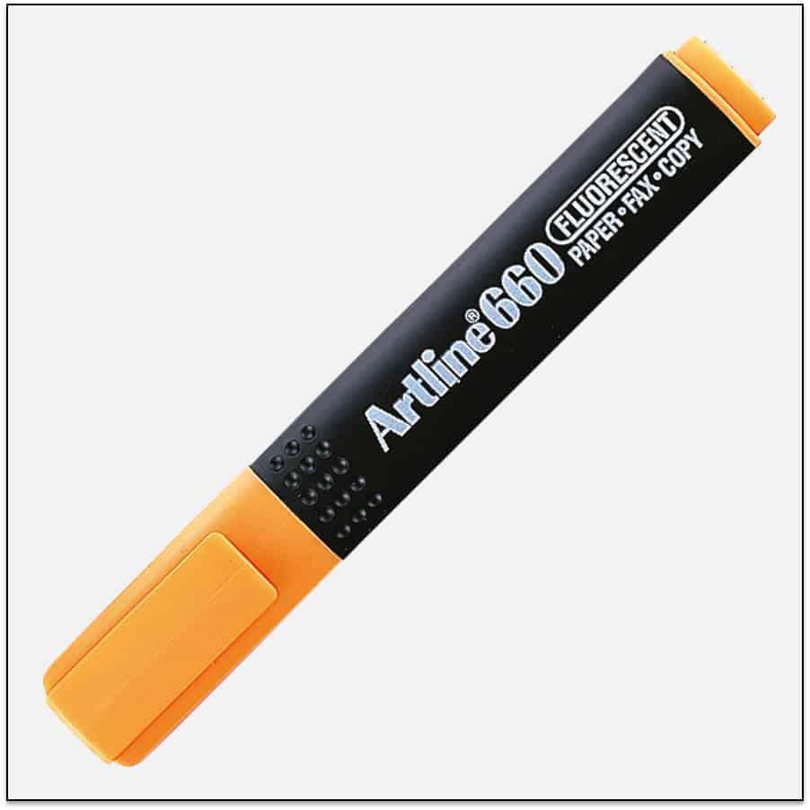 EK 660 ORANGE bút dạ quang nhiều màu artline Japan 1