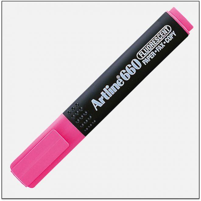 EK 660 PINK bút dạ quang nhiều màu artline Japan 1