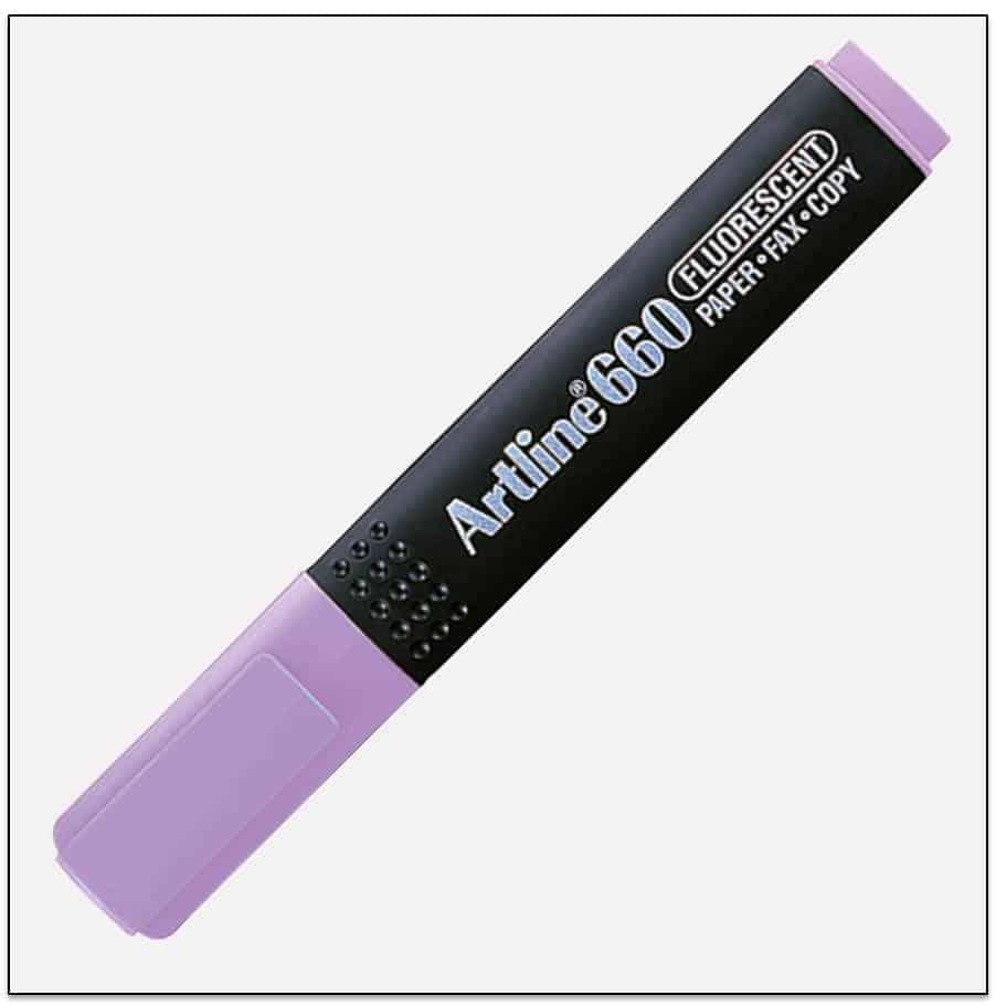 EK 660 PURPLE bút dạ quang nhiều màu artline Japan 1