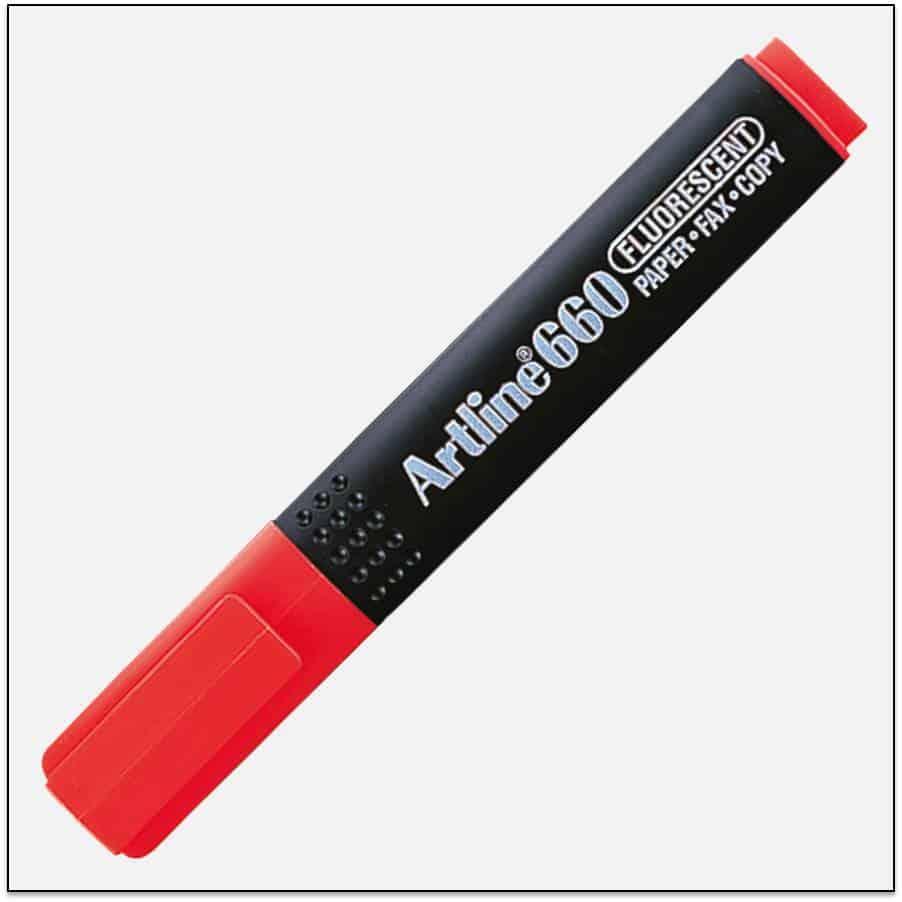 EK 660 RED bút dạ quang nhiều màu artline Japan 1