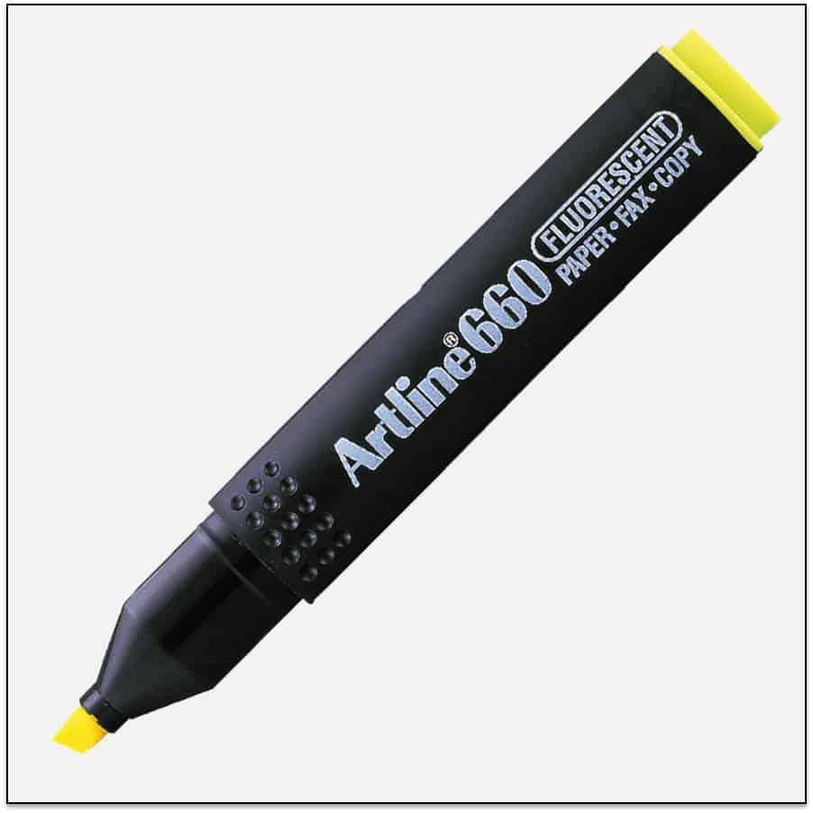 EK 660 YELLOW bút dạ quang nhiều màu artline Japan 1