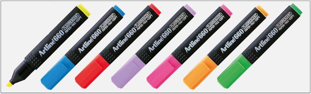 EK 660 bút dạ quang nhiều màu artline Japan