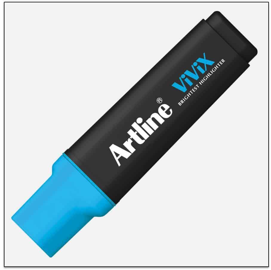 EK 670 BLUE bút dạ quang màu đẹp Artline Japan 1