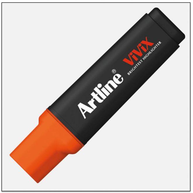 EK 670 RED bút dạ quang màu đẹp Artline Japan 1