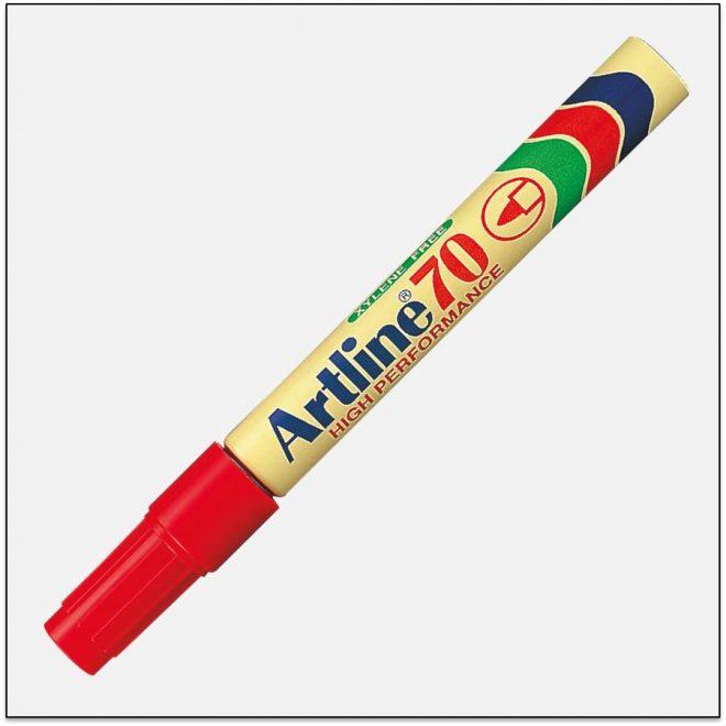 EK 70 RED Bút lông dầu không phai artline japan 1