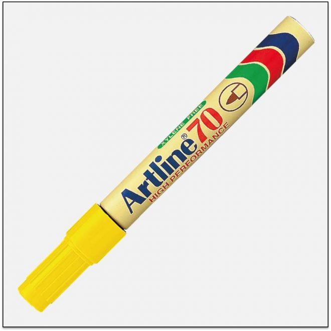 EK 70 YELLOW Bút lông dầu không phai artline japan 1
