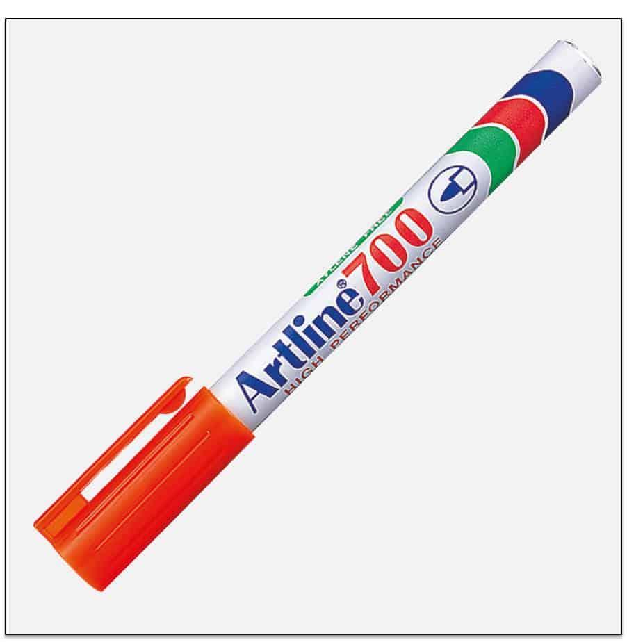 EK 700 ORANGE Bút lông dầu không phai Artline Japan 1
