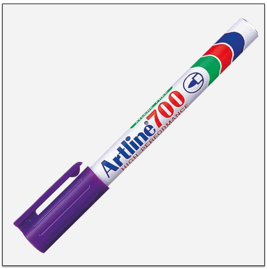 EK 700 PURPLE Bút lông dầu không phai Artline Japan 1
