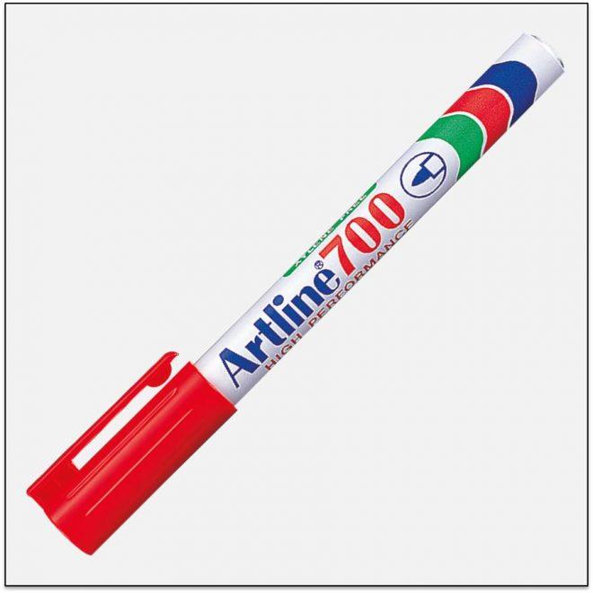 EK 700 RED Bút lông dầu không phai Artline Japan 1