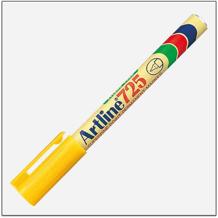 EK 725 YELLOW Bút lông dầu không phai Artline Japan 1