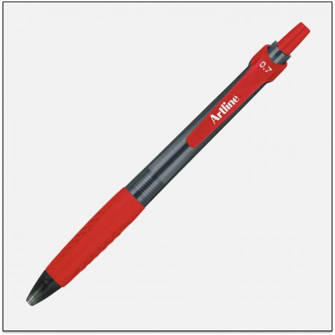 EK 8470 RED bút bi bấm tốt artline Japan 1