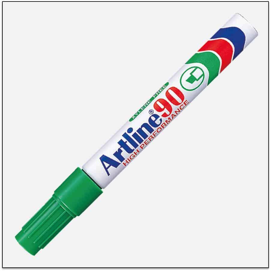 EK 90 GREEN Bút lông dầu không phai Artline Japan 1