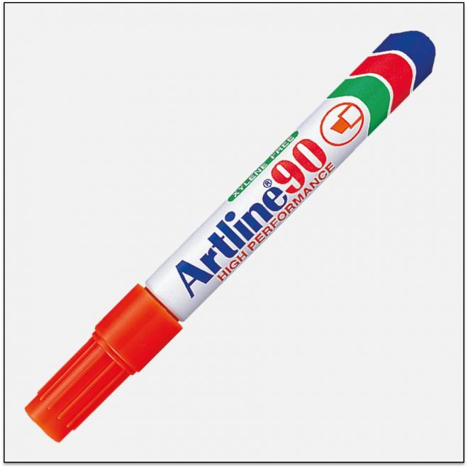 EK 90 ORANGE Bút lông dầu không phai Artline Japan 1