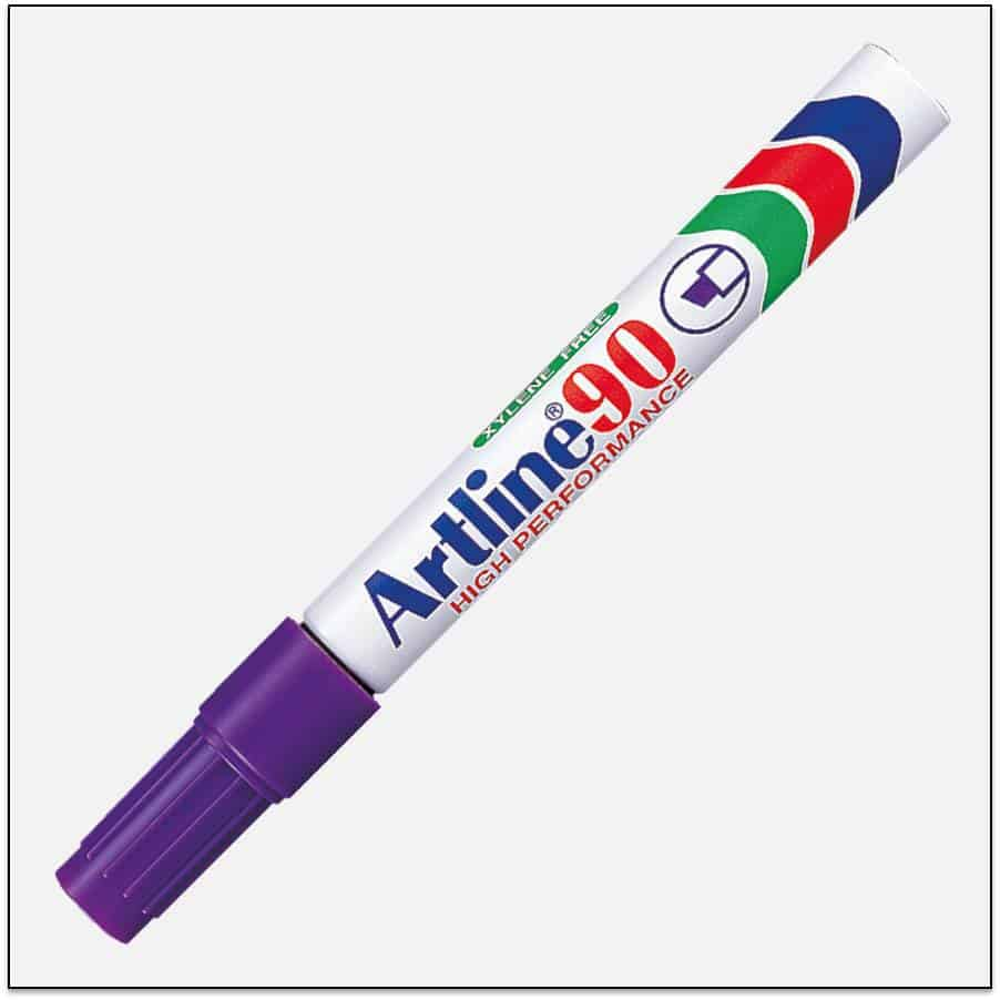 EK 90 PURPLE Bút lông dầu không phai Artline Japan 1
